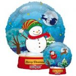 "CHRISTMAS SNOWBALL BALLOON 18"" 89098-18"